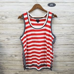 Tommy Hilfiger Red White Navy Striped Tank Top